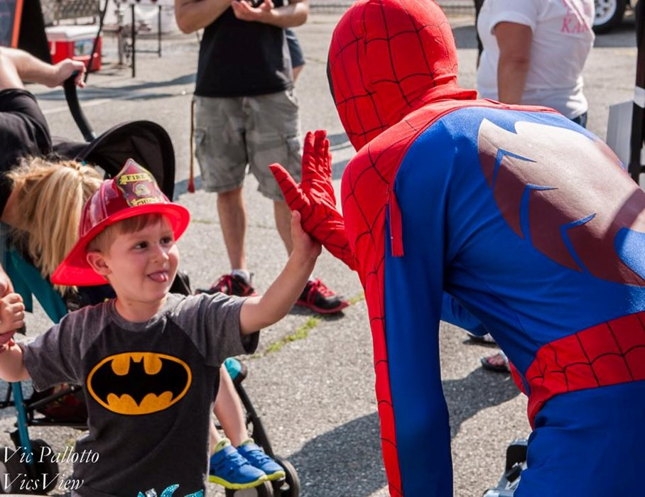 Spiderman Makes a Child's Day