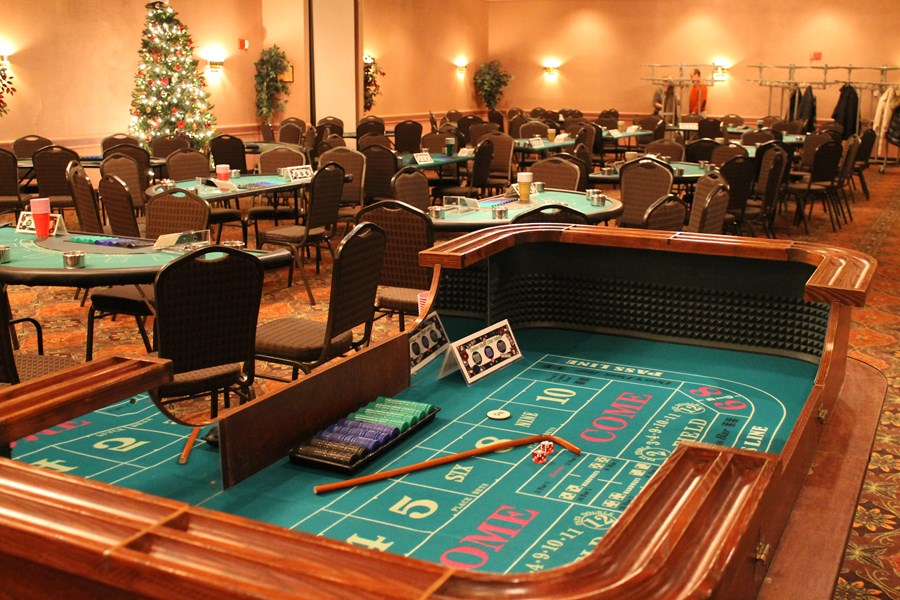 Craps table and corporate setup