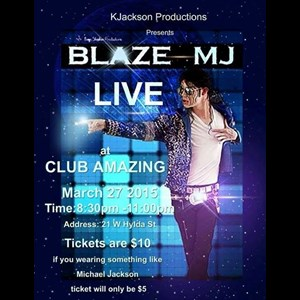 Charleston, SC Michael Jackson Tribute Act | Blaze-MJ
