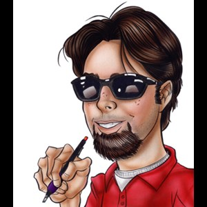 Phil Campbell Caricaturist | Drawn By Matt Caricatures