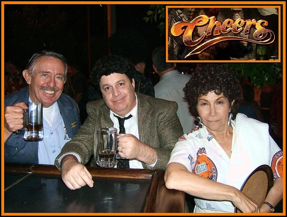 Cliffy, Norm, & Carla from CHEERS
