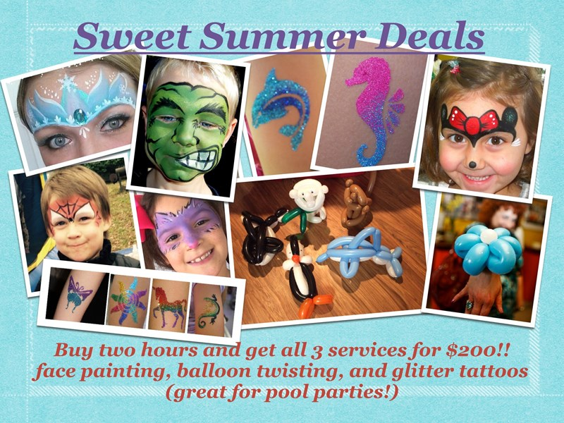 Firework Face Painting - Face Painter - Spring, TX