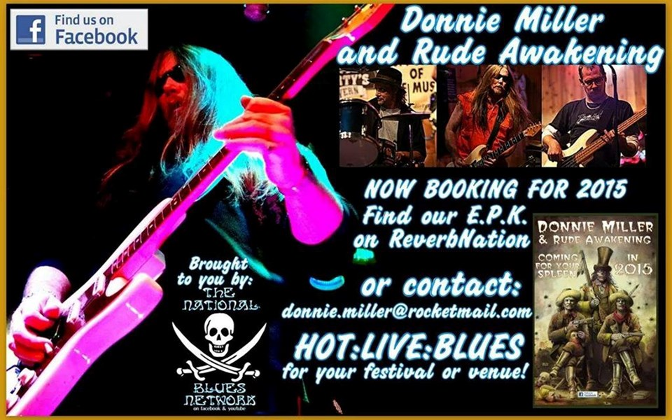 Donnie Miller AND Rude Awakening - Booking 2015 - Blues Band - Nashville, TN