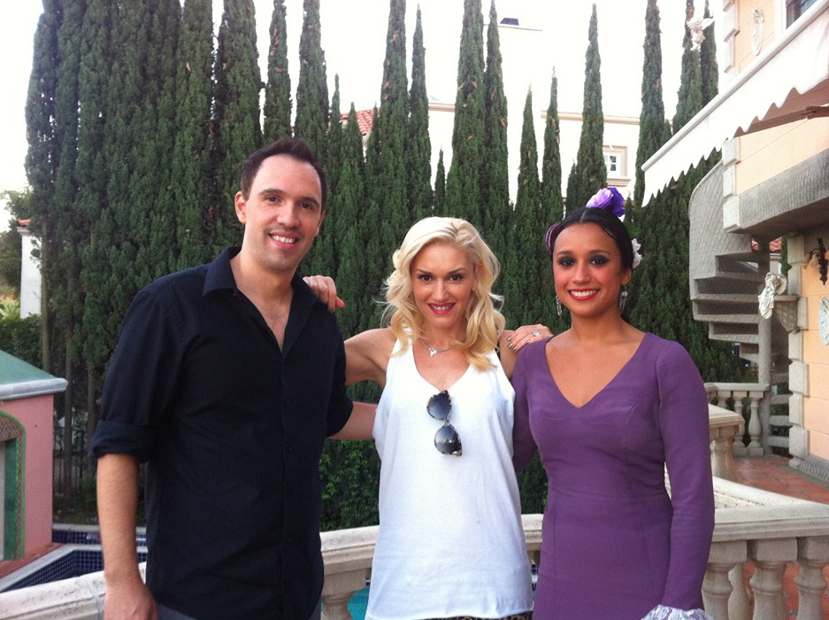 With famous Gwen Stefani and Sharon