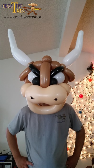 Bull balloon head