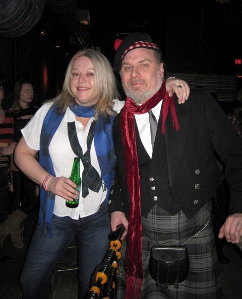 Toronto Bagpiper does birthdays too