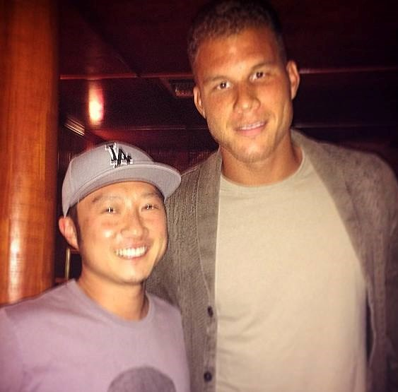 Blake Griffin came by Laugh Factory