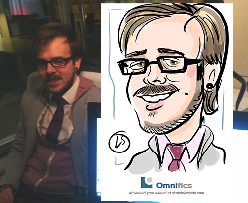 At a digital caricature event!