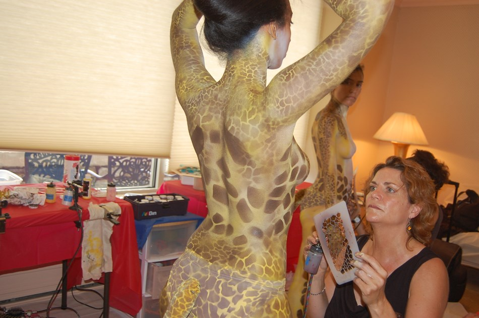 body painting corporate function