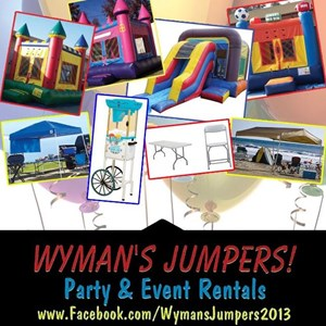 Orange Party Inflatables | Wyman's Jumpers & Party Rentals