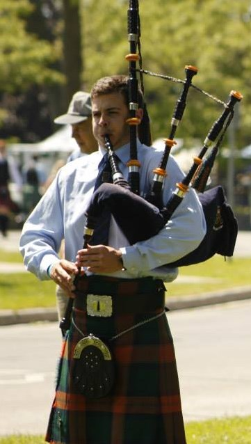 Competing at Cobourg Highland Games