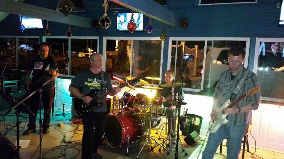 Rocking the house at the MOORINGS.