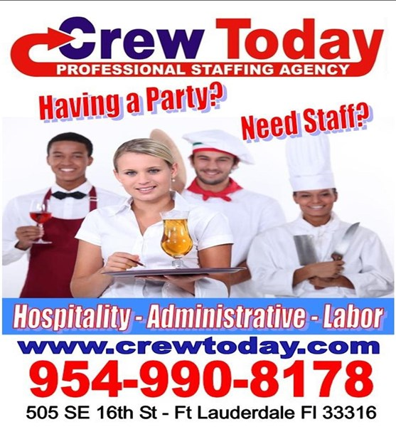 Crew Today Event Staffing - Caterer - Fort Lauderdale, FL