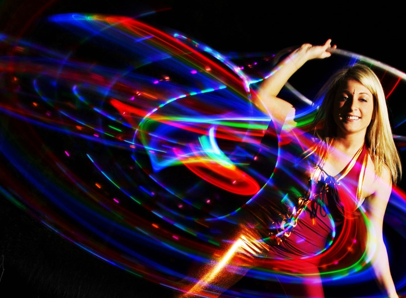 LED Hoop, Pixie Vision Photography