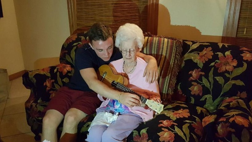 Teaching Grandma about the Ukelele