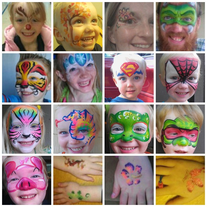 FUN faces and glitter tattoos!