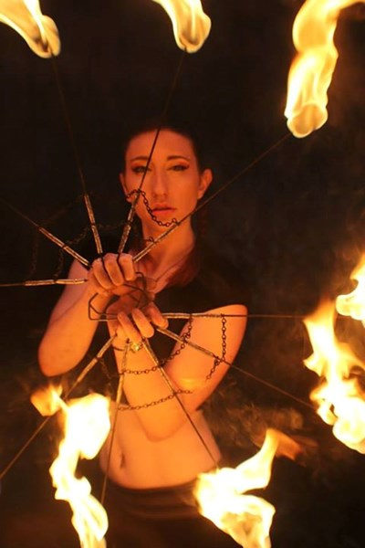 Sarotonin Flow Performance Art - Fire Dancer - Shelton, CT