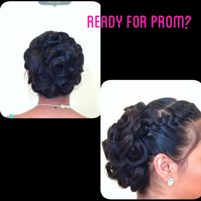 Hair up do for prom, wedding, or sp