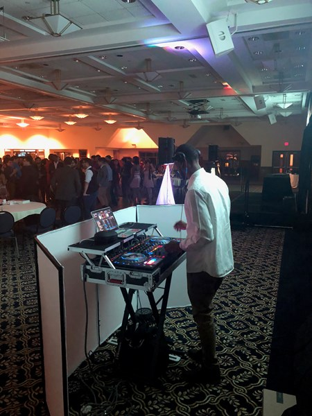 DJing at a UCONN formal.