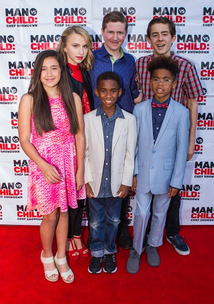 Cast of TV show Man vs Child