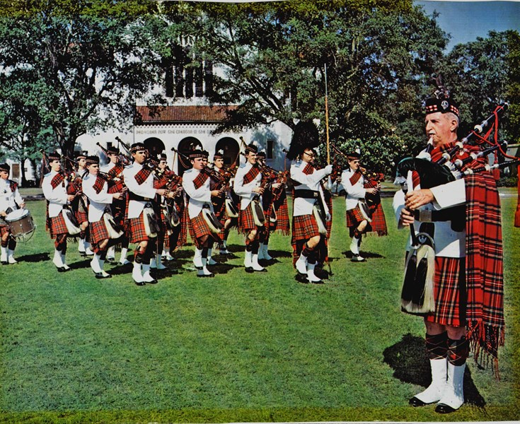 The Citadel Bagpipe Band 1977