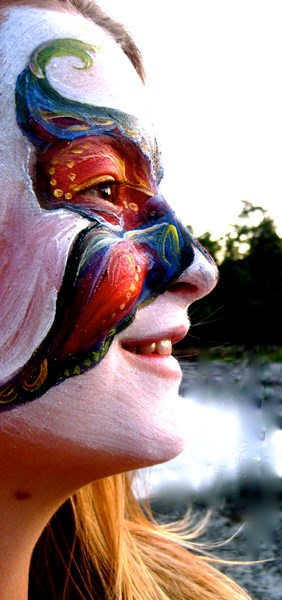 Faery Rose Face Painting - Face Painter - Sebastopol, CA
