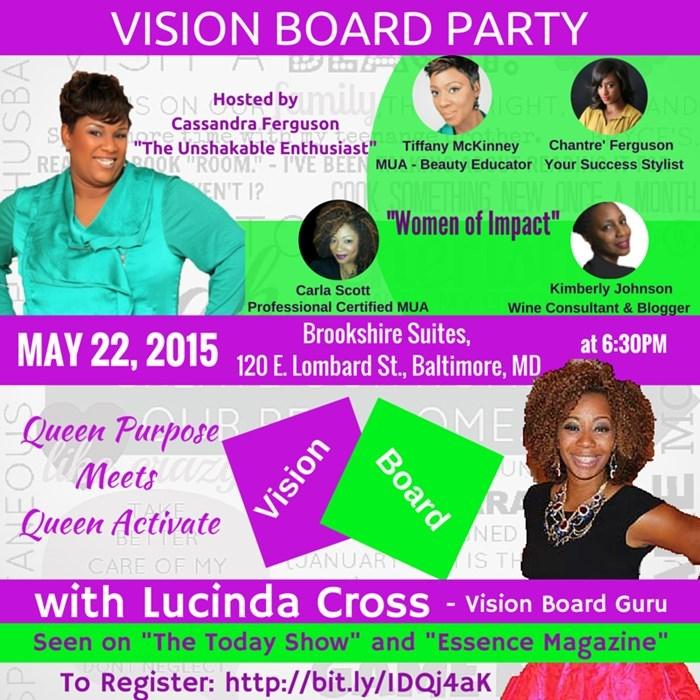 Vision Board Party May 22, 2015