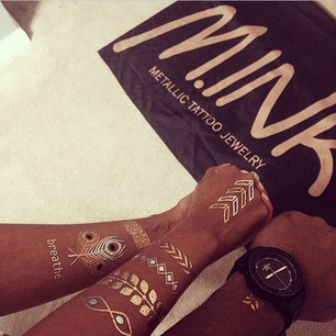M.INK - Metallic Temporary Tattoo Party - Temporary Tattoo Artist - Atlanta, GA