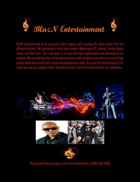 BlazN Entertainment Talent Agency - R&B Singer - Richmond, VA