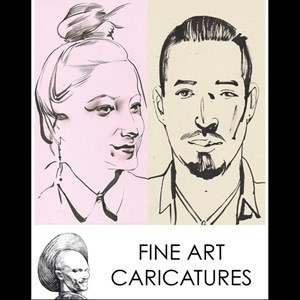 Fine Art Caricatures - Elegant Ink Portraits