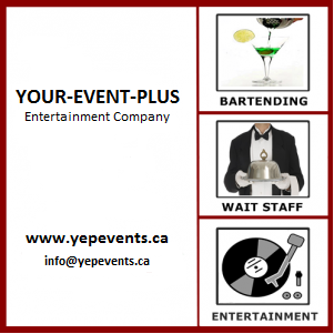 YOUR-EVENT-PLUS - Bartender - Toronto, ON
