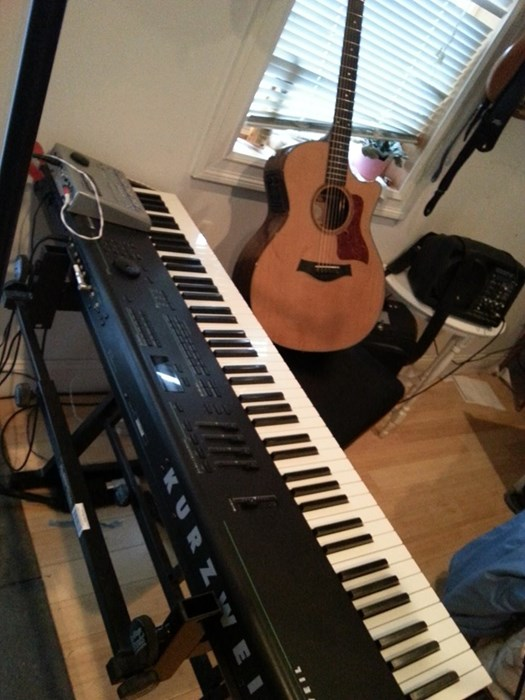 My Kurzweil Keyboard, Taylor guitar