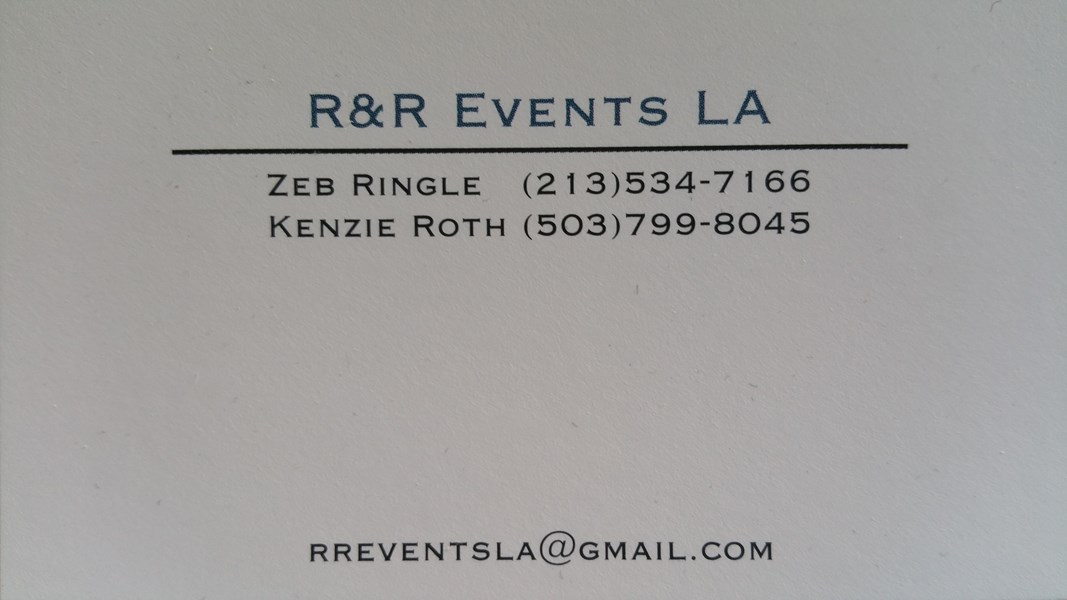 R&R EventsLA - Caterer - Los Angeles, CA