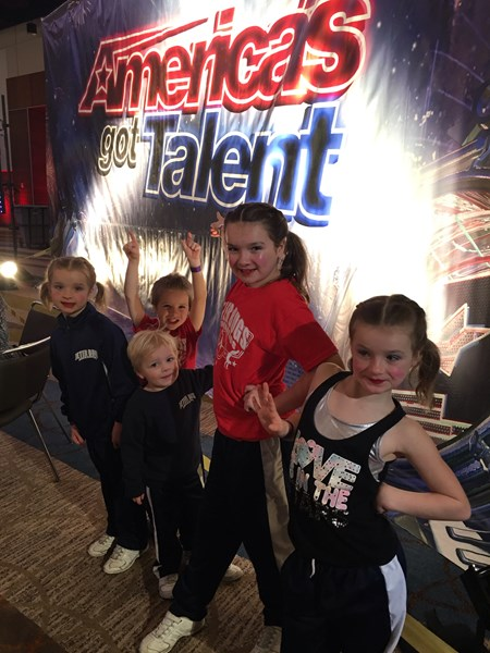 In Orlando at Americas Got Talent