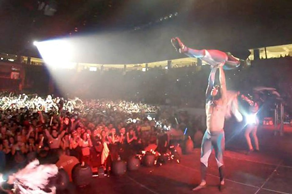 Performing at sold out Arena in MA