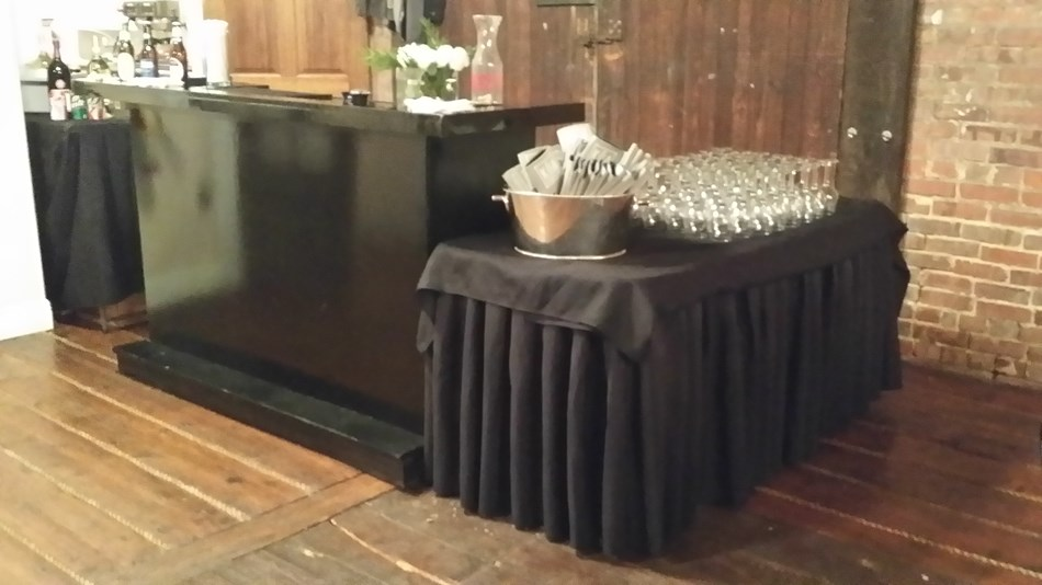 Custom built mobile bar by us