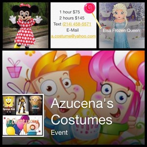 Irving Singing Telegram | Azucena Character Costume Party
