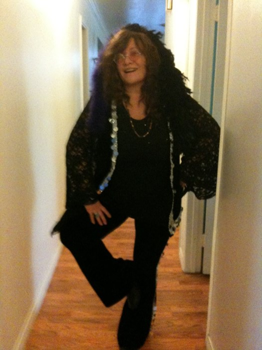 Janis at home...