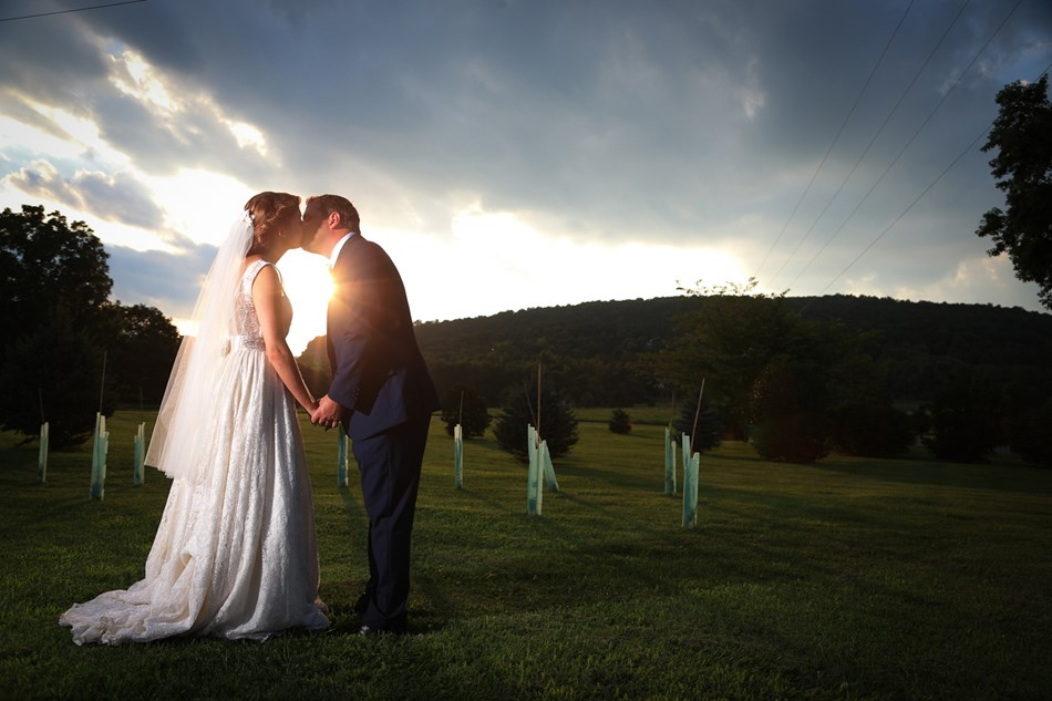 Bride and Groom Photo Sunset