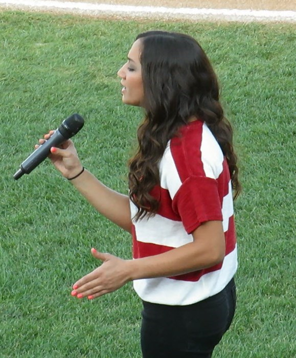 Singing the Star Spangled Banner
