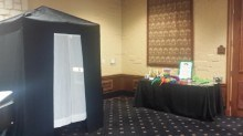 Our Enclosed booth with funny props