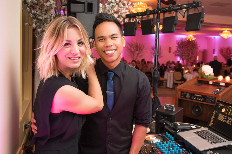 Kaley Cuoco with DJ MOJOE