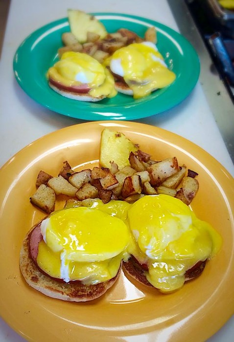So many ppl come for our Eggs Bene!