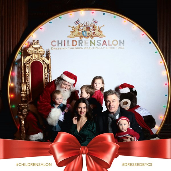 Alec Baldwin & Family with Santa Joe