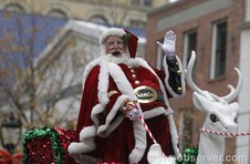 Santa at Raleigh Christmas Parade
