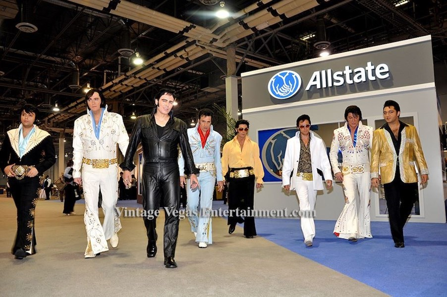 Elvis impersonators for Allstate!