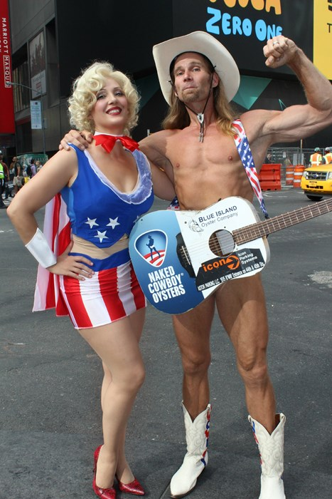 Times Square with the Naked Cowboy!