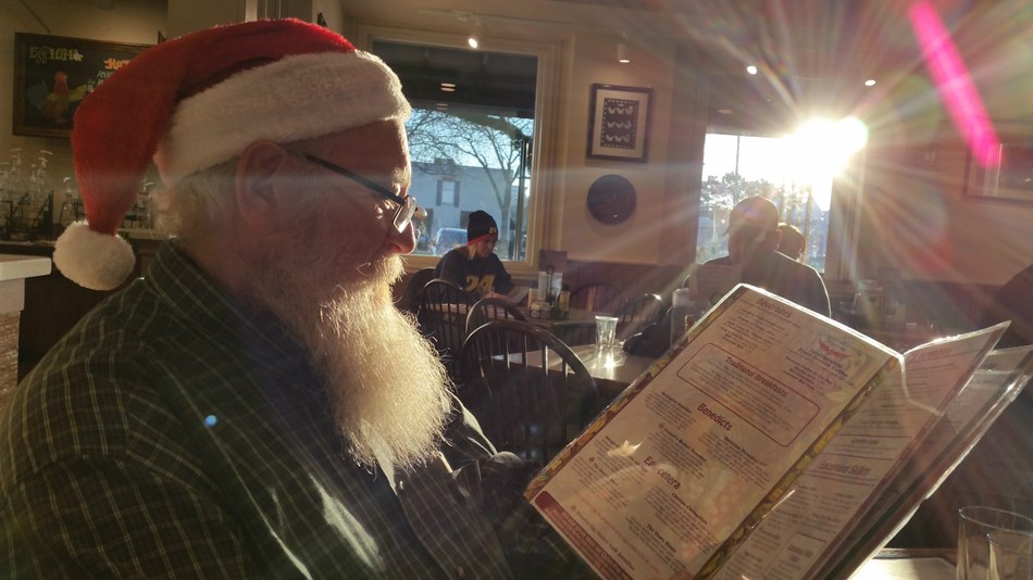 Santa taken a break for breakfast..