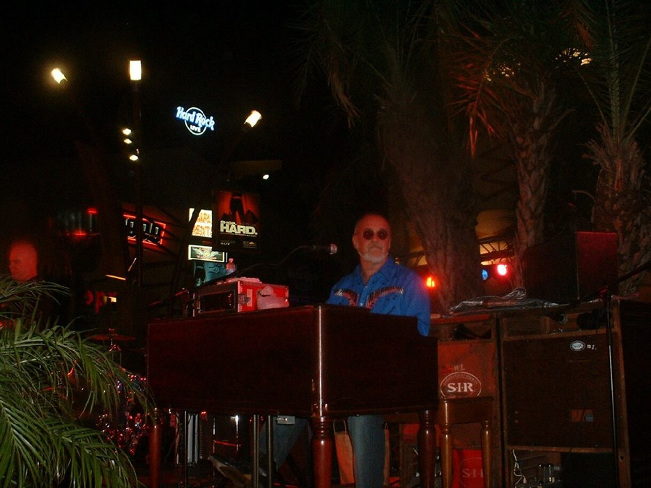 Playing at the Hard Rock in Fla.