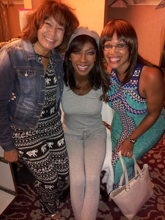Donna with Natalie Cole and friend